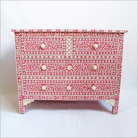 Four Drawer Inlay Dresser