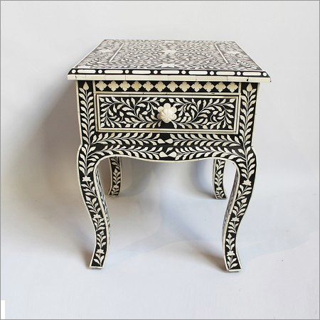 Inlay End Table Black