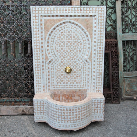 Moroccan Tile Wall Fountain