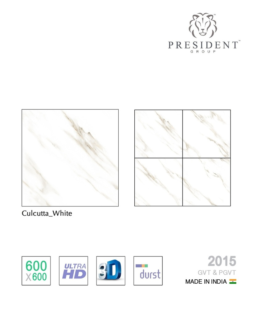 Calcutta White Porcelain Tile