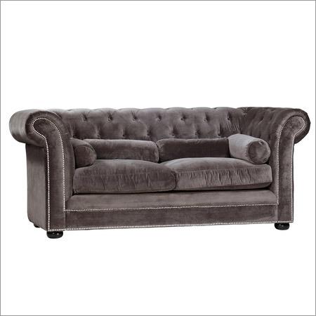 Slate Velvet Sofa