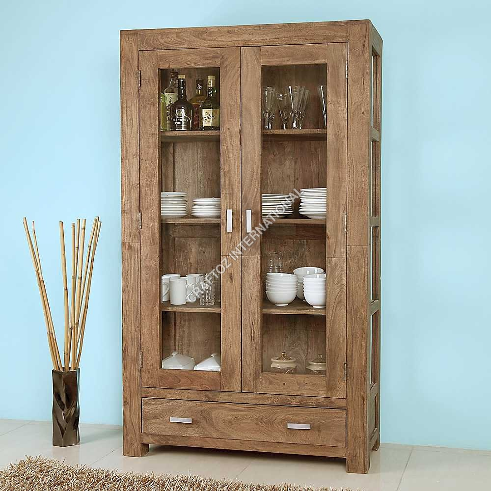 Acacia Wood Display Unit