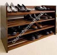 Acacia Wood Shoe Rack