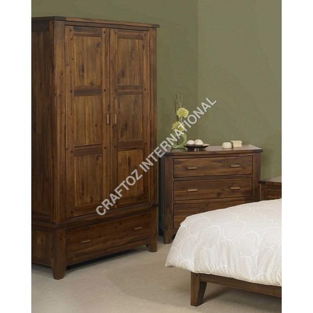 Acacia Wood Wardrobe