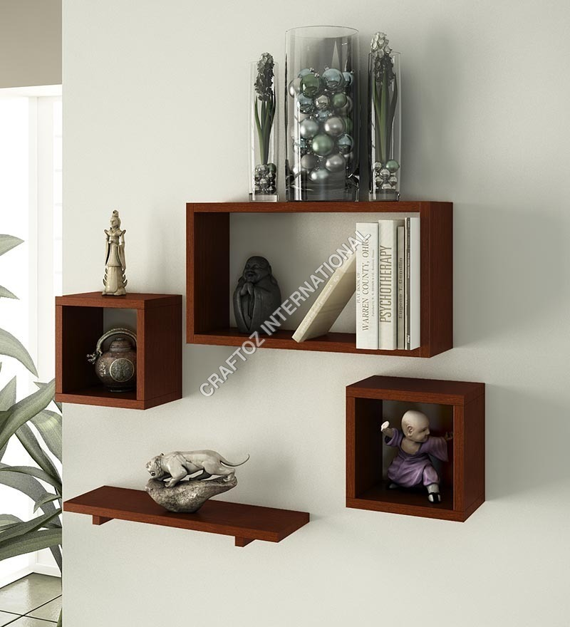 Mango Wood Wall Shelf