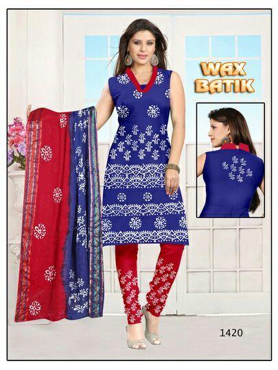 Cotton Wax Batik Dress