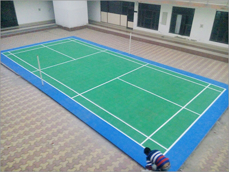 Rubber Badminton Court