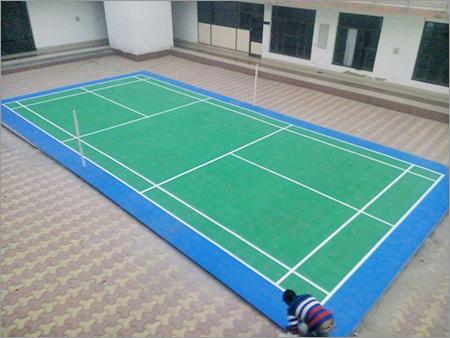 Rubber Badminton Court