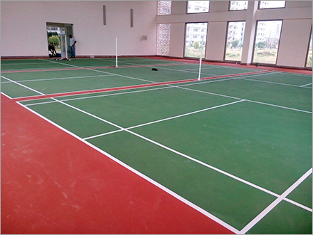 Badminton Court Cushion Flooring