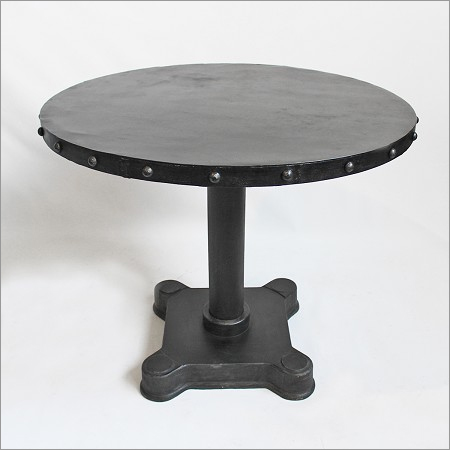 Industrial Iron Round Dining Table