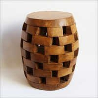 Teak Brick Stack Stool