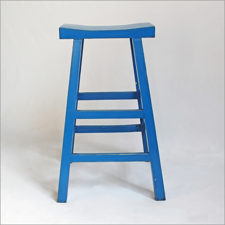 Blue Painted Sushi Stool