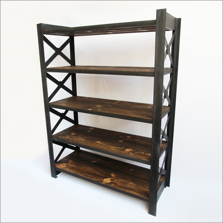 Wood & Iron X Shelf