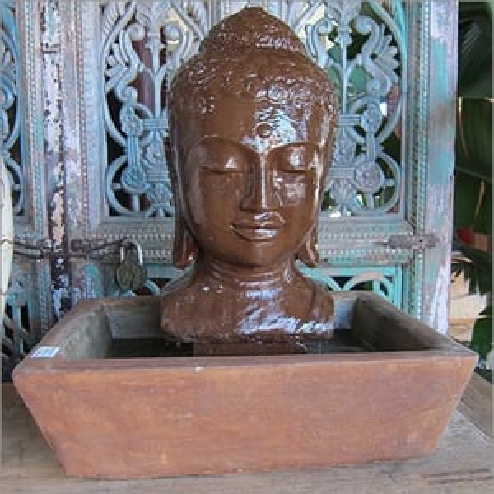 Stone Buddha Table Fountain