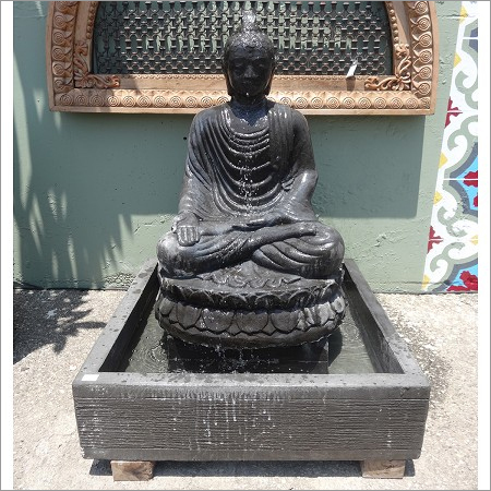 Stone Sitting Buddha Fountain