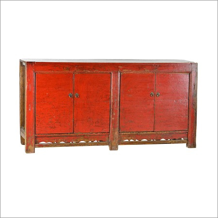 Vintage Red Sideboard