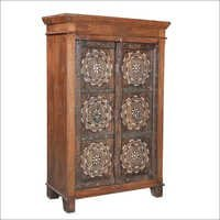Colonial Inlay Teak Cabinet