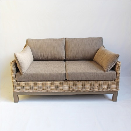 Grey Wash Rattan Sofa
