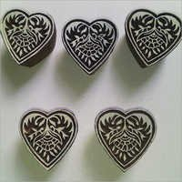 Wooden Heart Printing Stamp