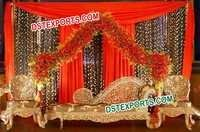Gorgeous Wedding Carved Sofa Set