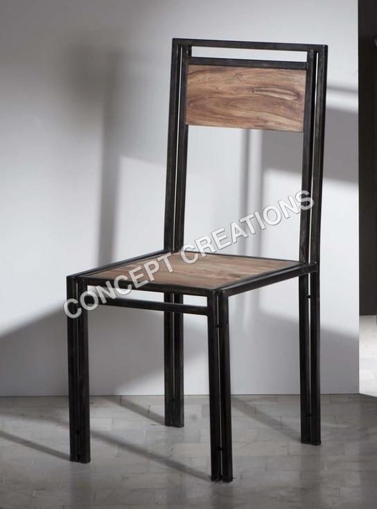 Iron Wooden Chair