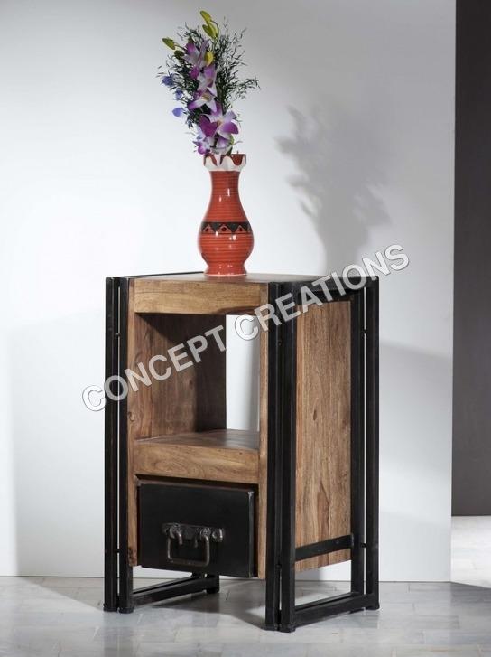Iron Wooden Bedside