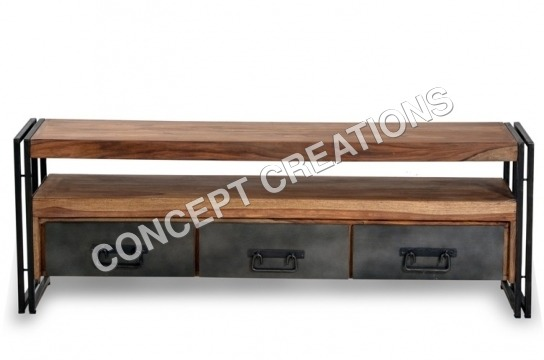 Iron Wooden TV Cabinet