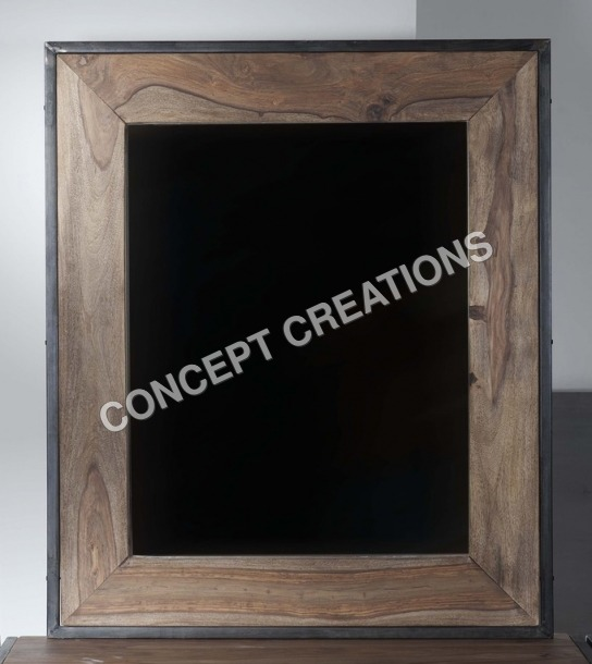 Iron Wooden Mirror Frame