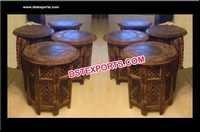 Wooden Handicraft Hand Made Mehandi Table