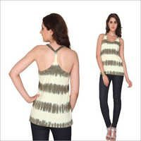Bedazzle Casual Sleeveless Printed Women's Top