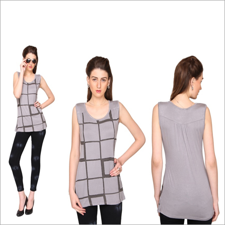 Bedazzle Casual Sleeveless Geometric Print Women's Top