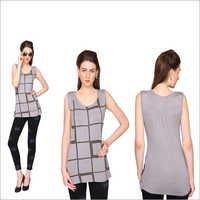 Bedazzle Casual Sleeveless Geometric Print Women's Top