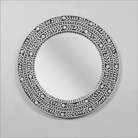 Round Inlay Mirror Frame