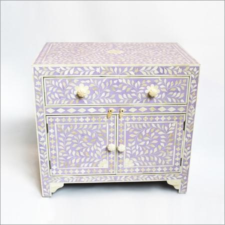 Inlay Lavandar Bedside Cabinet