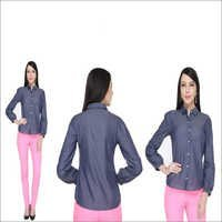 Bedazzle Women's Solid Casual Shirt