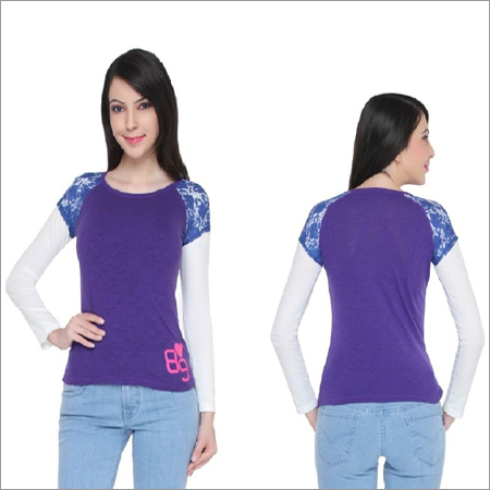 Bedazzle Party Full Sleeve Solid Women's Top