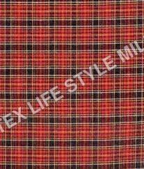 Polyster Cotton Checks Fabric