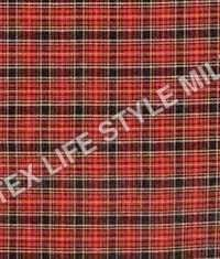 Polyster Cotton Checks Fabric