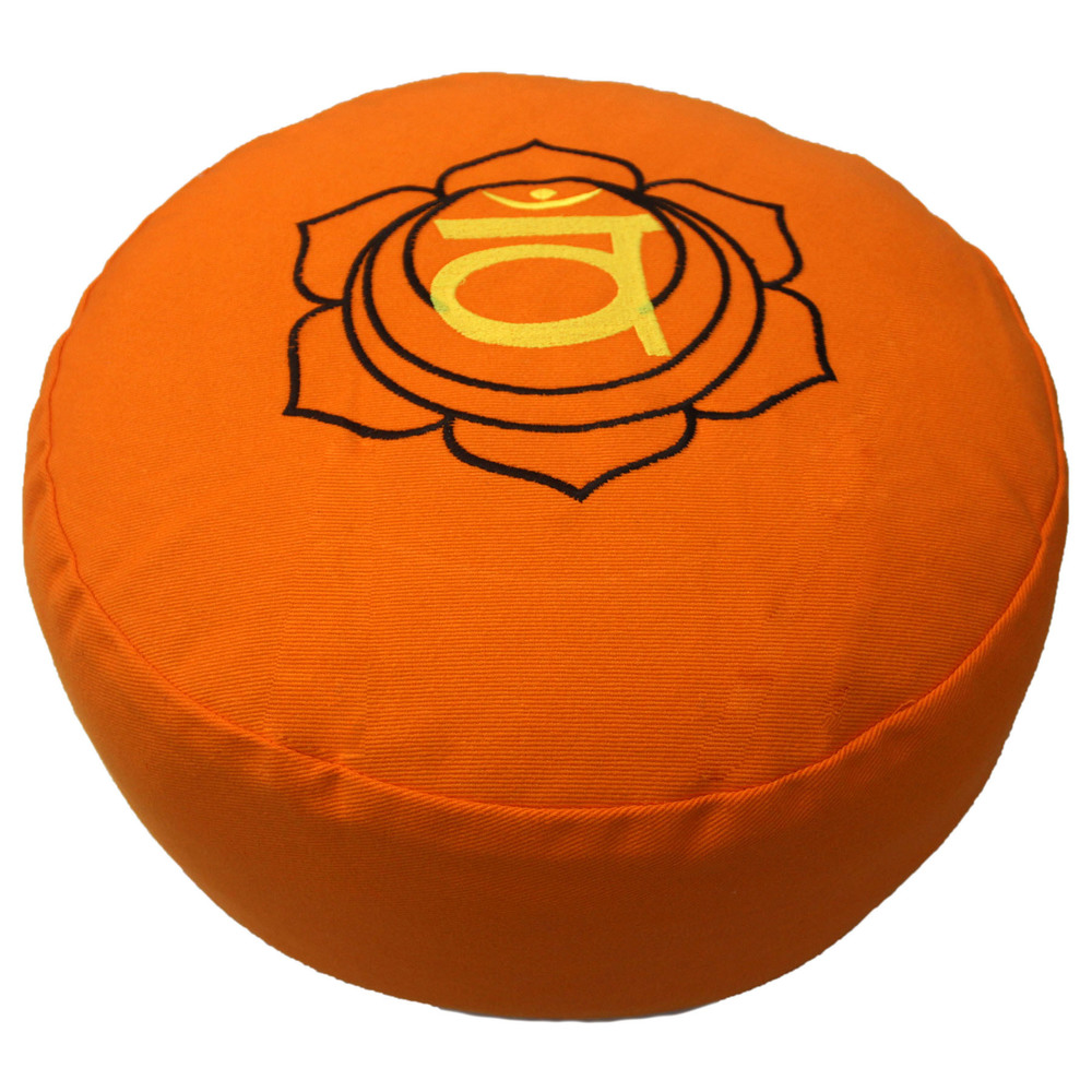 Chakra embroidery zafu cushion