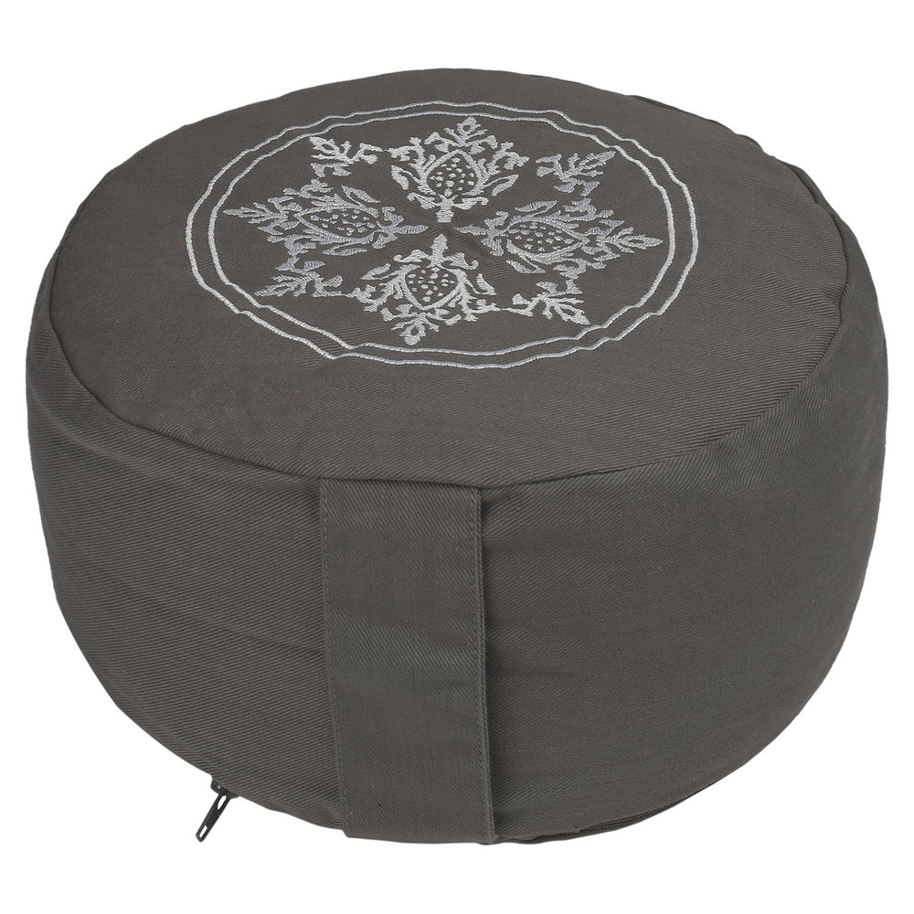 Non pleated embroidery Zafu Cushion