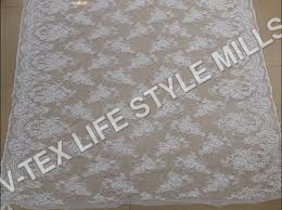 Polyster Cotton White Fabric