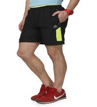 Men's Black & Green Shorts