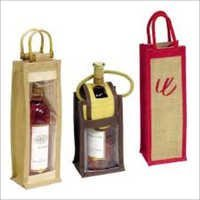 Single Bottle Wine Jute Bags
