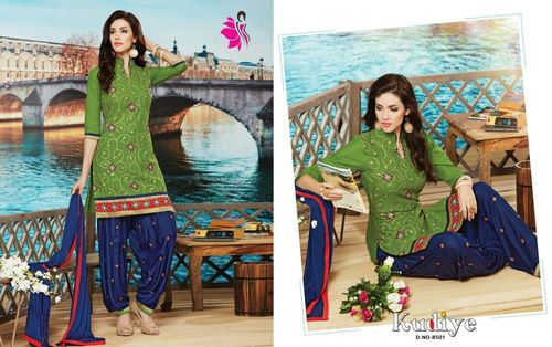 Khwaish Bottom Work Patiala Salwar Kameez