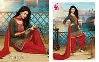 Designer Cotton Dress Materials Catalog