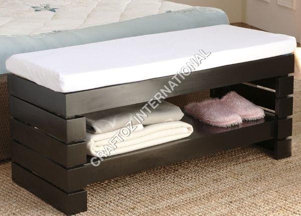Wooden Bedroom Bench