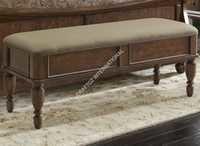 Dark Brown Wooden Bedroom Bench