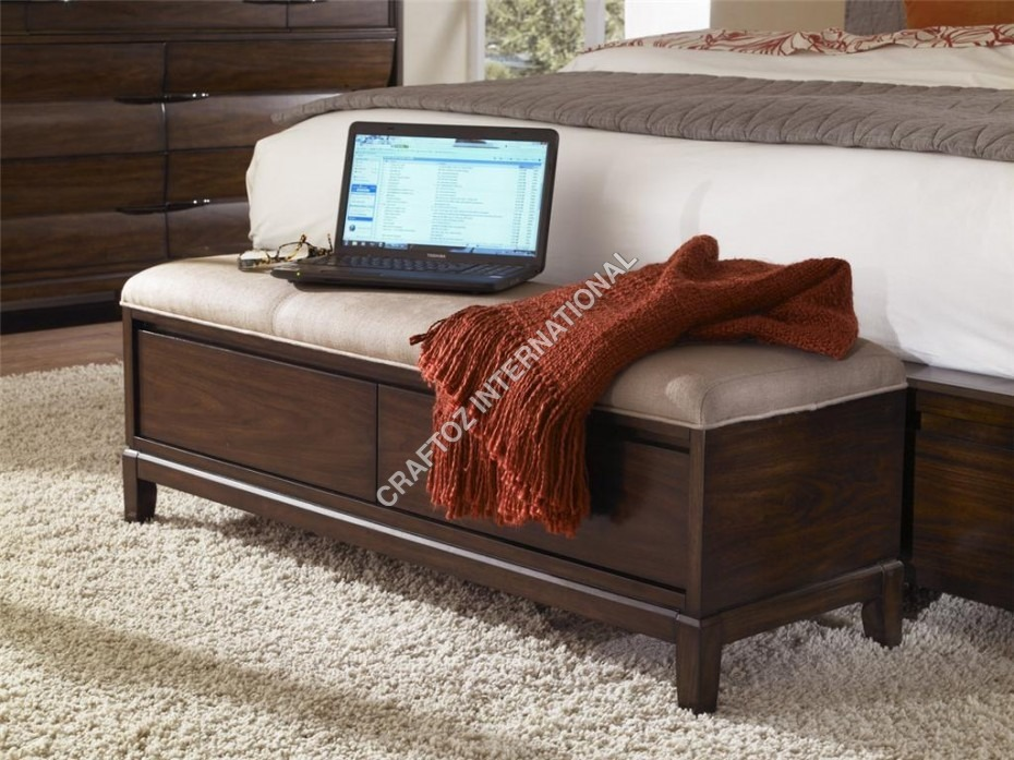 Modern Wooden Bedroom bench