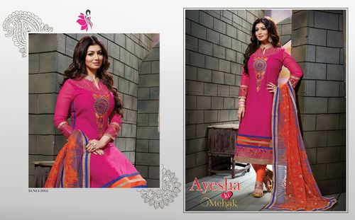 Purple Color Salwar Suits Semi Stitched