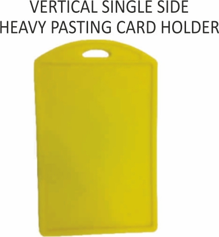 VERTICAL SINGLE SIDE HEAVY PASTING CARD HOLDER